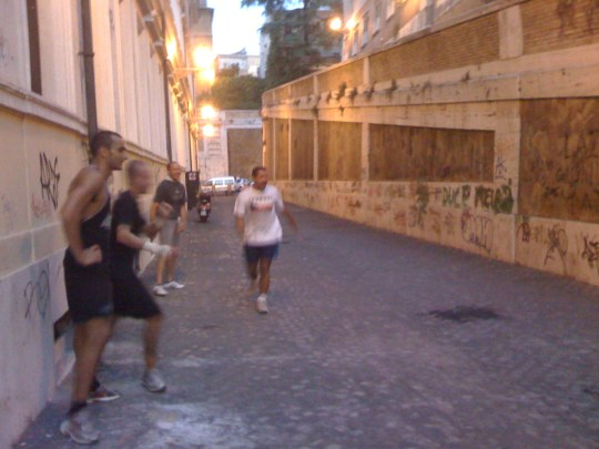 Roman Soccer Match at Night