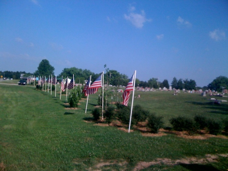 Memorial Day at Wydotte Nation Cemetery, Oklahoma