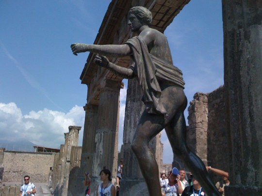 Apollo statue in Pompeii