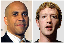 Cory Booker and Mark Zuckerberg