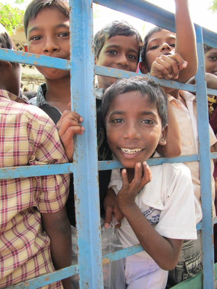 Photo of children in India