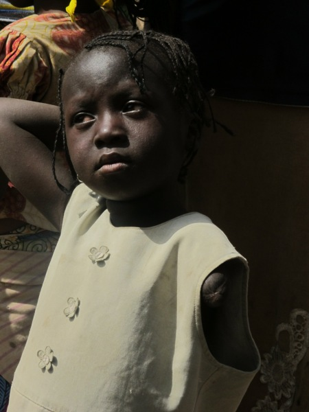 Grace, a victim of sectarian violence in Nigeria