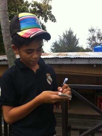Malaysia boy waiter