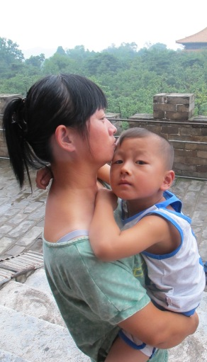 Mother and Son in Beijing