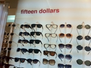 Famous 15 Dollar Sunglasses at the Silver Room